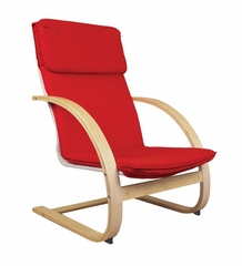 Kids Rocker - Teacher Rocker in Red - Guidecraft - G6468