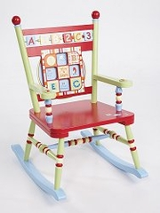 Kids Rocking Chair - Alphabet Soup Rocker - LOD70000