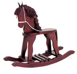 Kids Rocking Horse - Derby Rocking Horse in Cherry - KidKraft Furniture - 19631