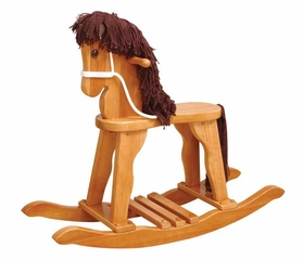 Kids Rocking Horse - Derby Rocking Horse in Honey - KidKraft Furniture - 19641