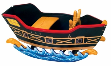 Kids Rocking Horse - Retro Rockers, Pirate Boat - Guidecraft - G51101