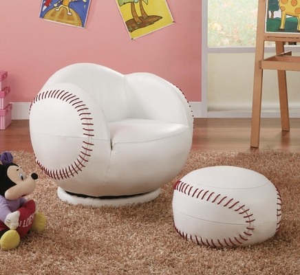 Kids Sports Chairs Small Kids Baseball Chair and Ottoman - 460177