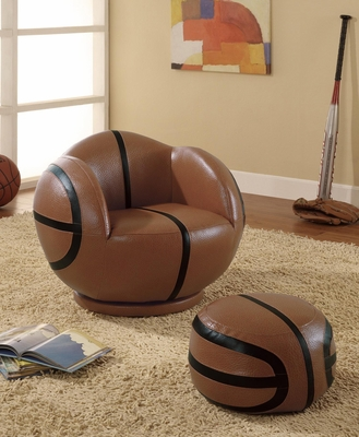 Kids Sports Chairs Small Kids Basketball Chair and Ottoman - 460176