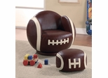 Kids Sports Chairs Small Kids Football Chair and Ottoman - 460179