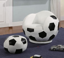 Kids Sports Chairs Small Kids Soccer Ball Chair and Ottoman - 460178