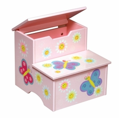 Kids Step Stool - Butterfly Step Stool - Guidecraft - G83366