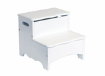 Kids Step Stool - Classic White Storage Step-Up in White - Guidecraft - G85706