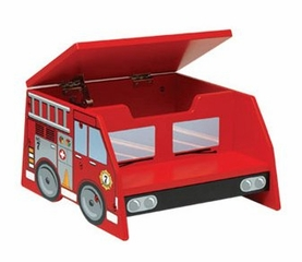 Kids Step Stool - Fire Truck Step Stool - KidKraft Furniture - 76023