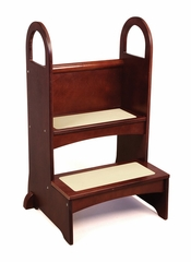 Kids Step Stool - High Rise Step-Up in Espresso - Guidecraft - G97017