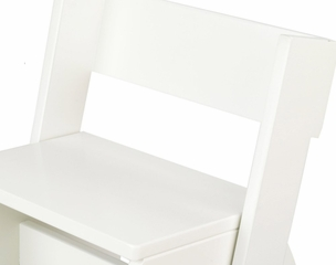 Kids Step Stool - Large Flip Stool in White - KidKraft Furniture - 15801