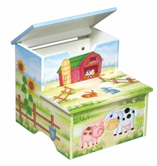 Kids Step Stool - Little Farm House Step Stool - Guidecraft - G83566