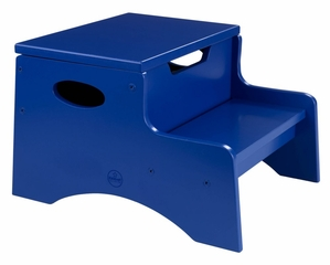 Kids Step Stool - Step 'n Store in Blue - KidKraft Furniture - 15603