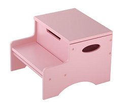 Kids Step Stool - Step 'n Store in Pink - KidKraft Furniture - 15604