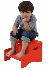 Kids Step Stool - Step 'n Store in Red - KidKraft Furniture - 15602