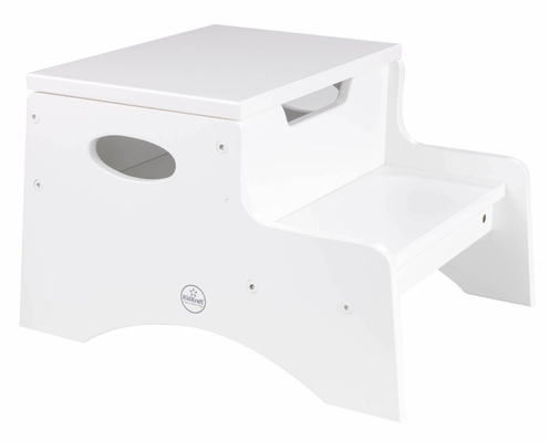 Kids Step Stool - Step 'n Store in White - KidKraft Furniture - 15601