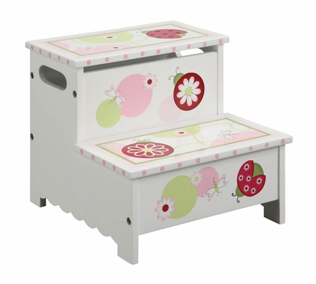 Kids Step Stool - Sweetie Pie Storage Step-Up in Multi - Guidecraft - G86107