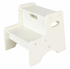 Kids Step Stool - Two Step Stool in White - KidKraft Furniture - 15501