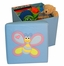 Kids Storage Ottoman with Bee Design in Light Blue - RiverRidge - 02-042