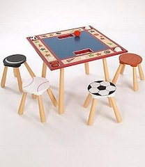 Kids Table and Chair Set - All Star Sports Table and 4 Stool Set - LOD20025