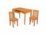 Kids Table and Chair Set - Avalon Table and 2 Chair Set in Honey - KidKraft Furniture - 26641