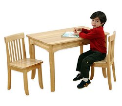 Kids Table and Chair Set - Avalon Table and 2 Chair Set in Natural - KidKraft Furniture - 26621