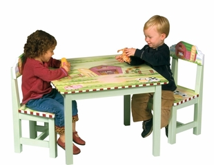 Kids Table and Chair Set - Little Farm House Table and Chair Set - Guidecraft - G83562