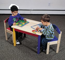 Kids Table and Chair Set - Moon and Stars Table and Chair Set - Guidecraft - G98041