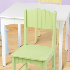 Kids Table and Chair Set - Nantucket Table and 4 Pastel Chair Set - KidKraft Furniture - 26101