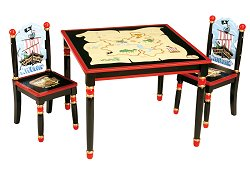Kids Table and Chair Set - Pirate Table and Chair Set - Guidecraft - G83702