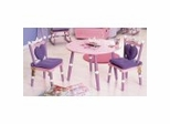 Kids Table and Chair Set - Princess Table and 2 Chair Set - LOD20008