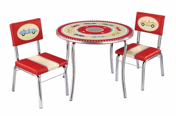 Kids Table and Chair Set - Retro Racer Table and Chair Set in Multi Color - Guidecraft - G85802