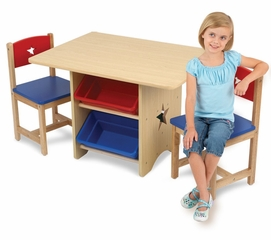 Kids Table and Chair Set - Star Table and 2 Chair Set - KidKraft Furniture - 26912