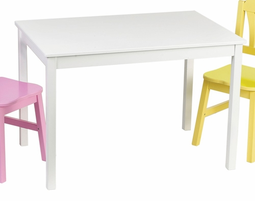 Kids Table - Harmony Table in White - Guidecraft - G86002