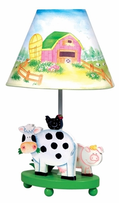 Kids Table Lamp - Little Farm House Lamp - Guidecraft - G83567