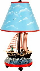Kids Table Lamp - Pirate Lamp - Guidecraft - G83707