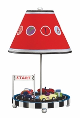 Kids Table Lamp - Retro Racer Table Lamp in Multi Color - Guidecraft - G85807