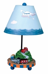 Kids Table Lamp - Transportation Table Lamp in Multi Color - Guidecraft - G85307