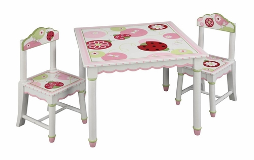 Kids Table Set - Sweetie Pie Table and Chair Set in Multi - Guidecraft - G86102