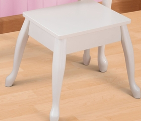 Kids Vanity Table Set - Medium Diva Vanity Table and Stool Set - KidKraft Furniture - 13009