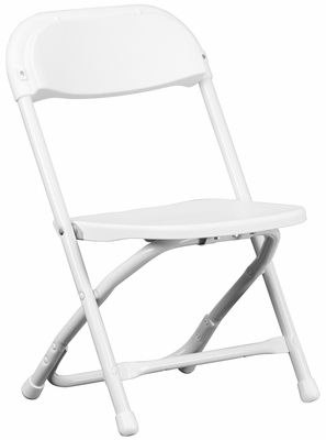 Kids White Plastic Folding Chair - Y-KID-WH-GG