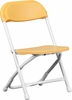 Kids Yellow Plastic Folding Chair - Y-KID-YL-GG
