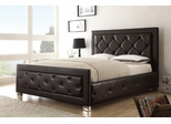 Kindell California King Size Upholstered Bed in Dark Brown - 300381KW