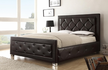 Kindell King Size Upholstered Bed in Dark Brown - 300381KE