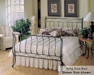 King Size Bed - Camelot Eastern King Size Metal Sleigh Bed