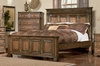 King Size Bed - Edgewood Eastern King Size Bed in Warm Brown Oak - Coaster - 201621KE