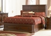 King Size Bed - Foxhill Eastern King Size Bed in Deep Cherry Brown - Coaster - 201581KE