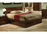 King Size Bed - Jessica Eastern King Size Bed in Light Cappuccino - Coaster - 200711KE