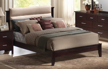 King Size Bed - Kendra Eastern King Size Bed in Mahogany - Coaster - 201291KE