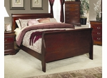King Size Bed - Louis Philippe Eastern King Size Bed in Cherry - Coaster - 200431KE