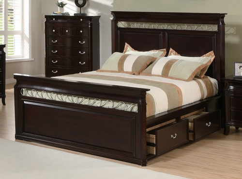 King Size Bed - Manhattan Eastern King Size Bed in Deep Rich Espresso - Coaster - 201311KE